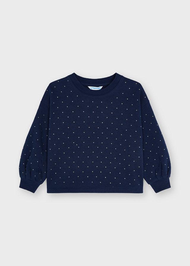 Mayoral Ink Studded Sweatshirt