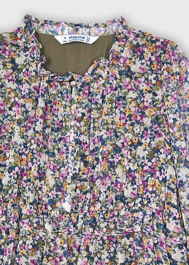 Mayoral Lilac Floral Dress