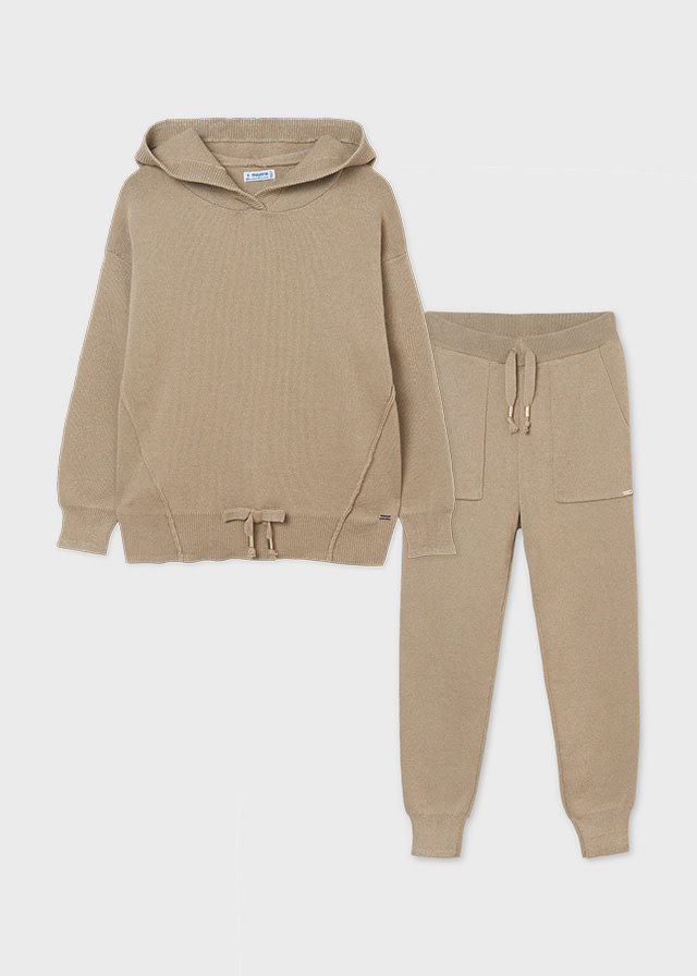 Mayoral Camel Tricot Tracksuit