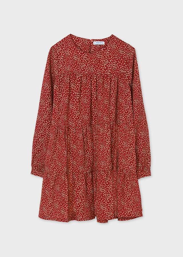 Mayoral Red Print Dress