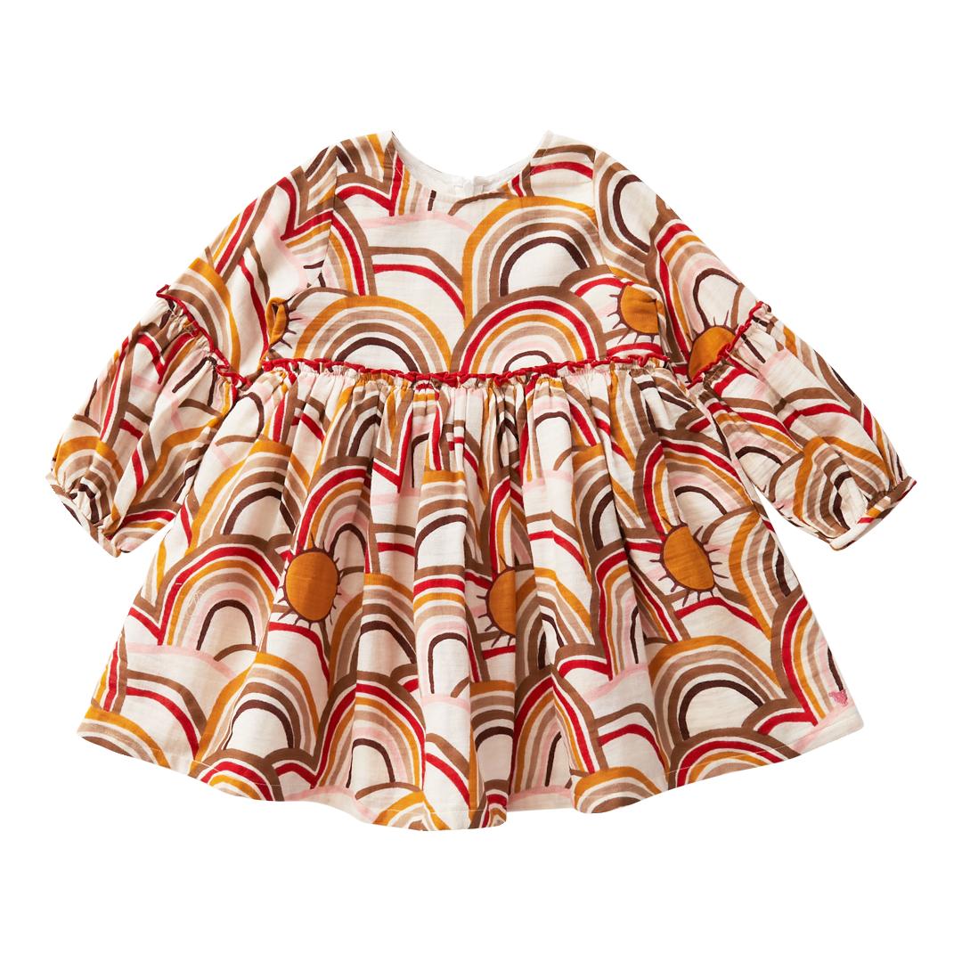 Pink Chicken Rainbows Cecelia Dress