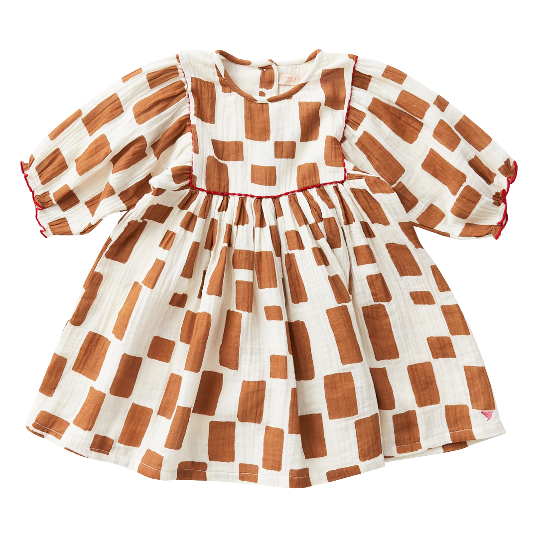 Pink Chicken Ginger Squares Arianna Dress