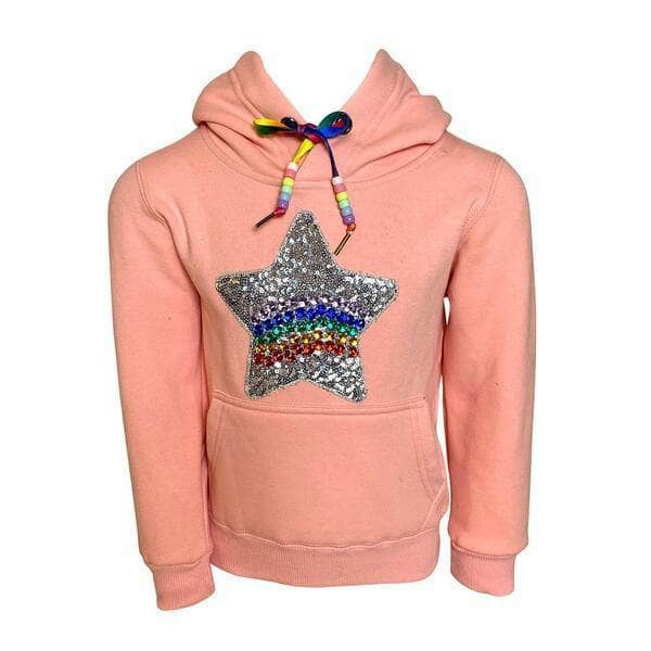 Lola & the Boys Sequin Star Candy Hoodie
