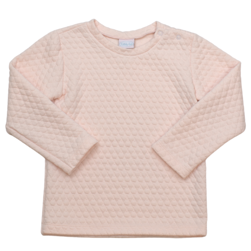 Lullaby Set Quilted Pink Precious Pullover