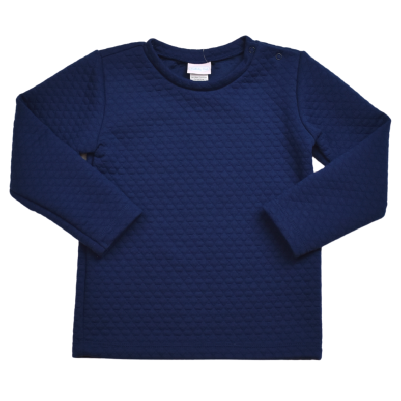 Lullaby Set Quilted Navy Precious Pullover