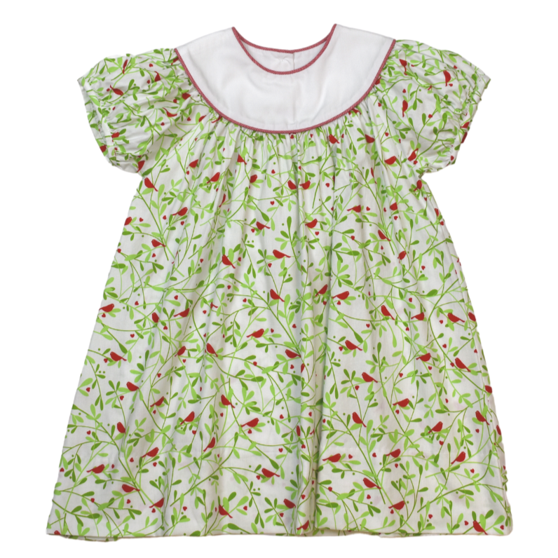 Lullaby Set Cardinal Print Rosie Dress