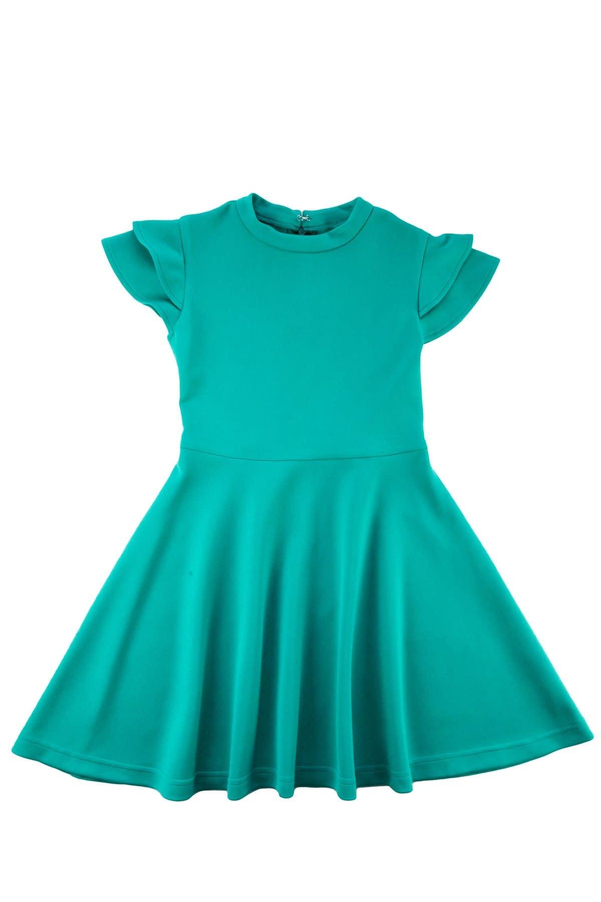 Florence Eiseman Jade Flutter Sleeve Dress