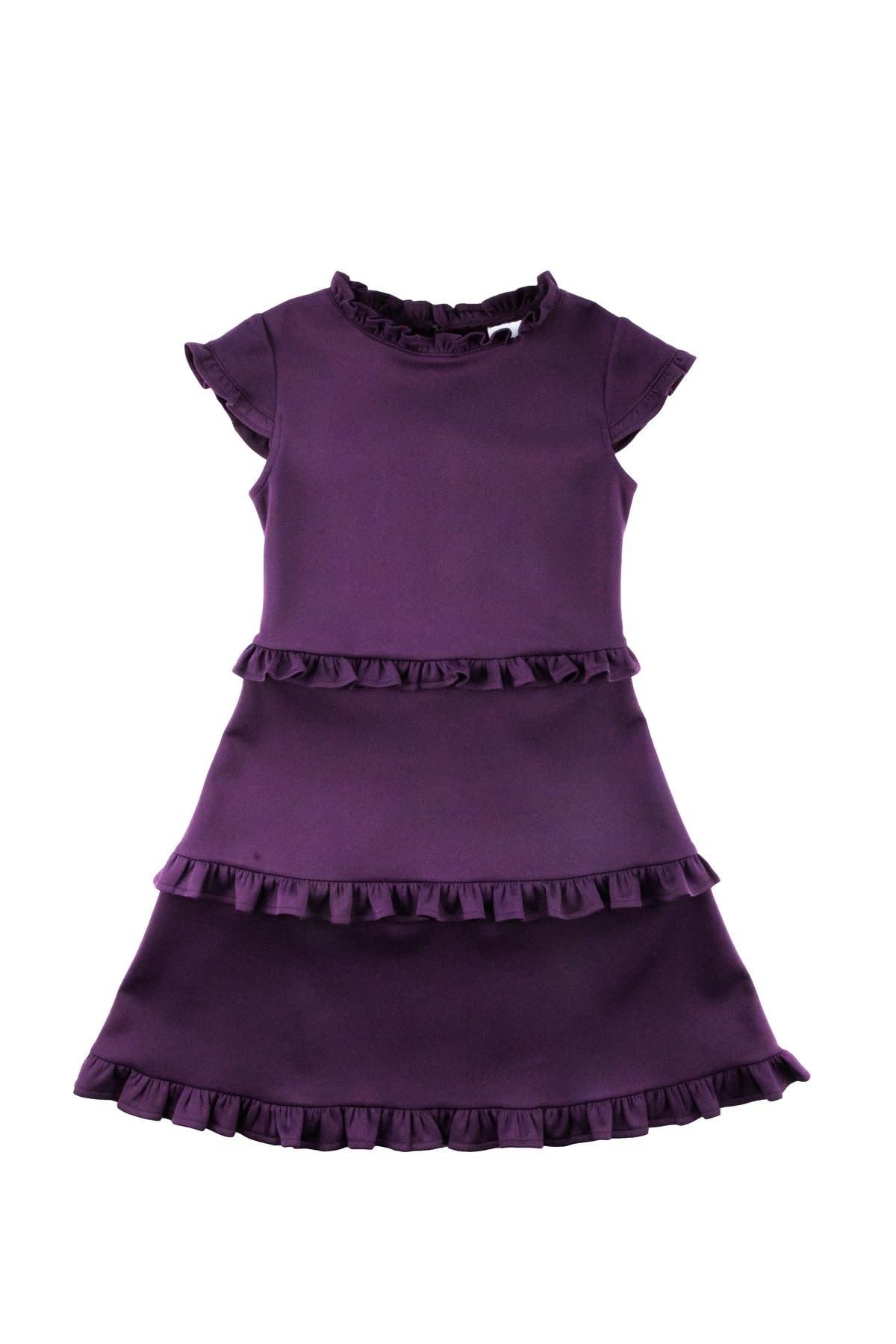 Florence Eiseman Purple Ruffle Knit Dress