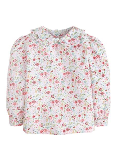 Little English Midway Floral Peter Pan Blouse