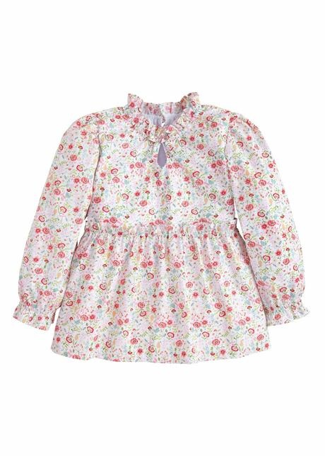 Little English Midway Floral Alicia Blouse
