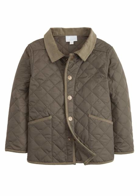 Little English Olive Classic Quilted Jacket