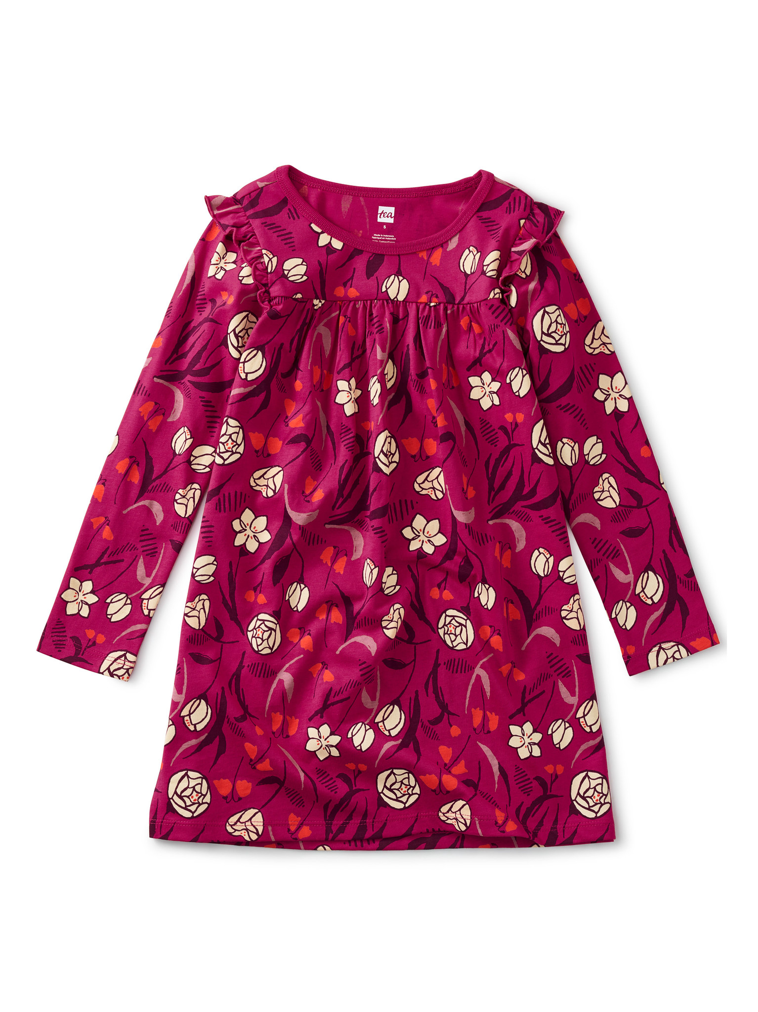 Tea Collection Tulips Ruffled Up Dress