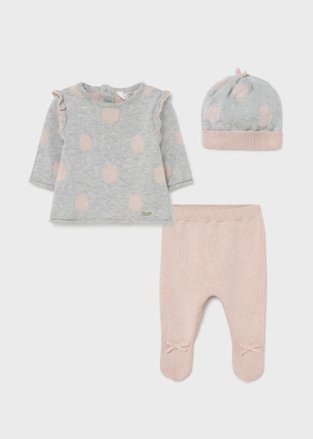 Mayoral Pink/Grey Sweater Set
