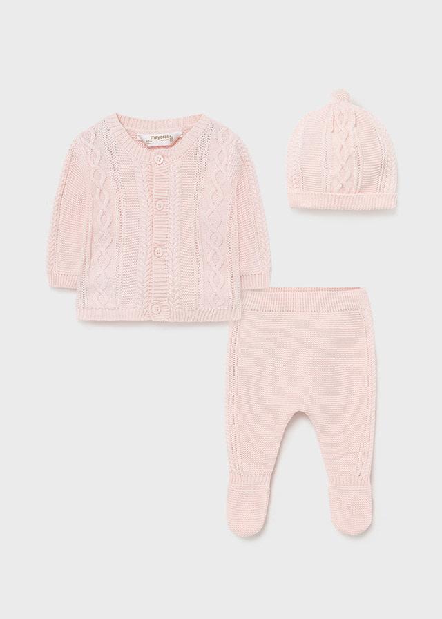 Mayoral Pink Organic Cotton Footie Set