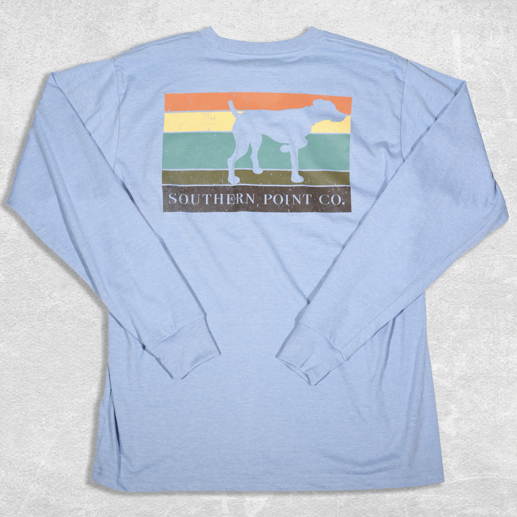 Southern Point Co. L/S Silhouette Block Tee