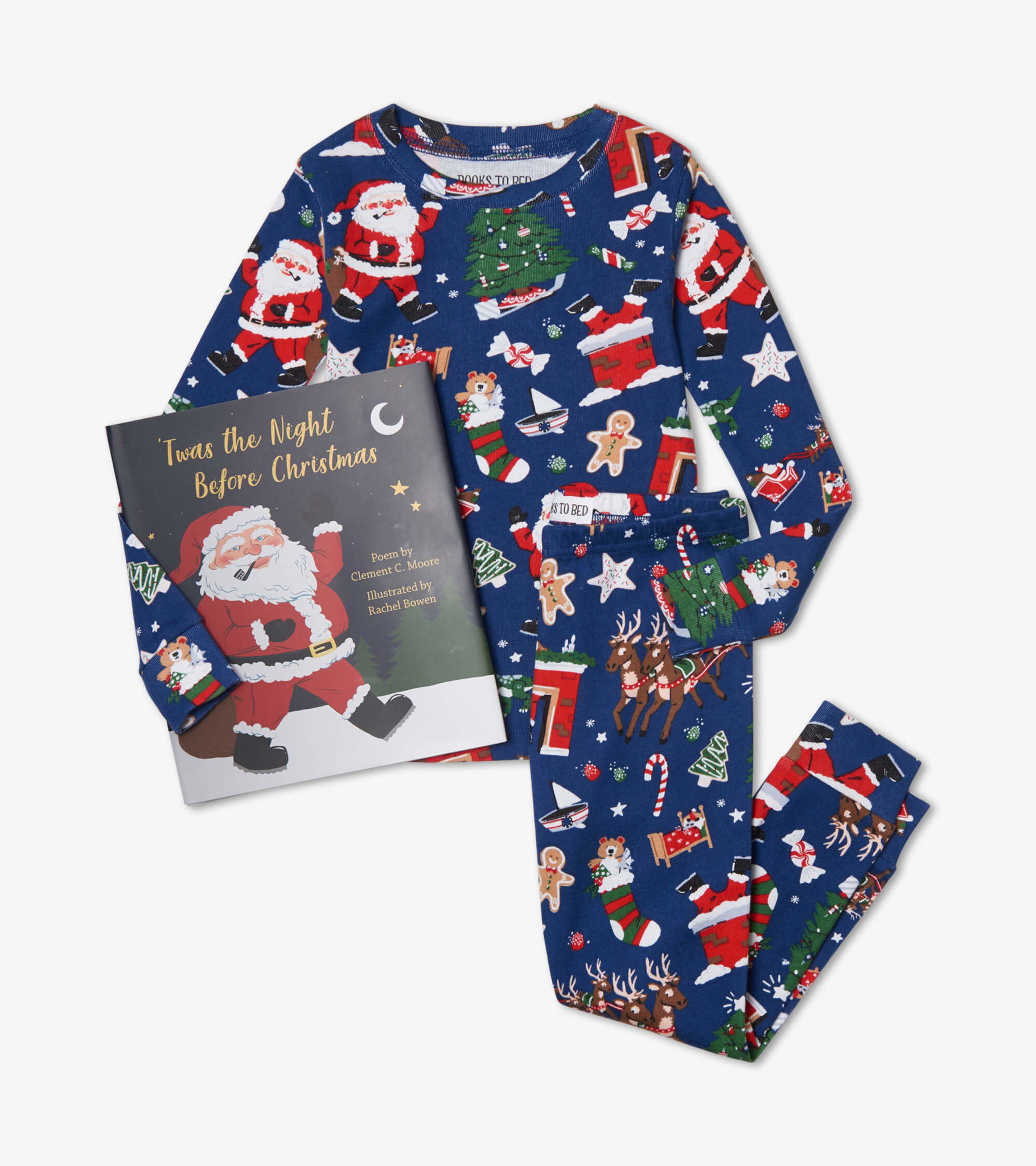 Books to Bed Blue Night Before Christmas PJs