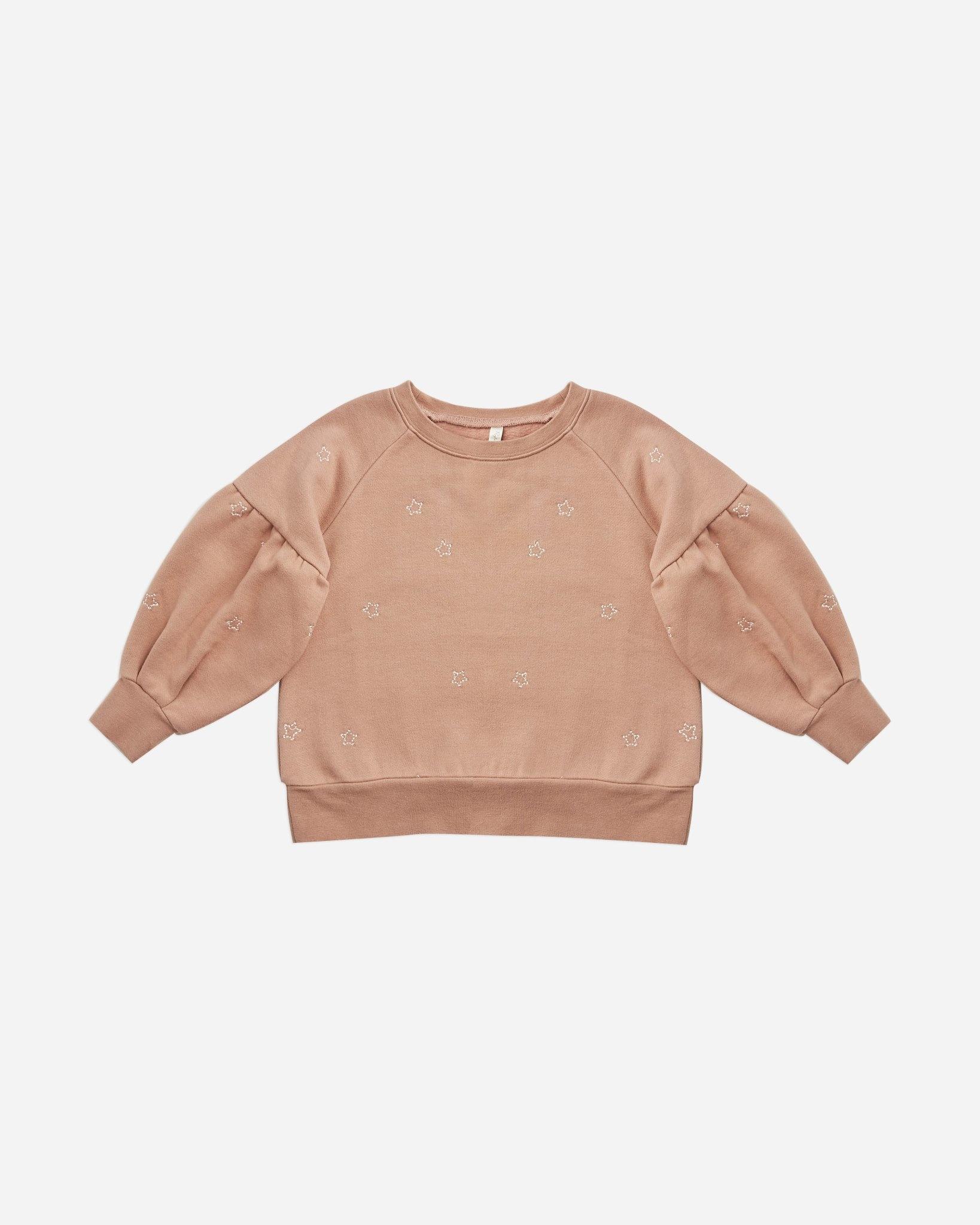 Rylee & Cru Stars Puff Sleeve Sweatshirt