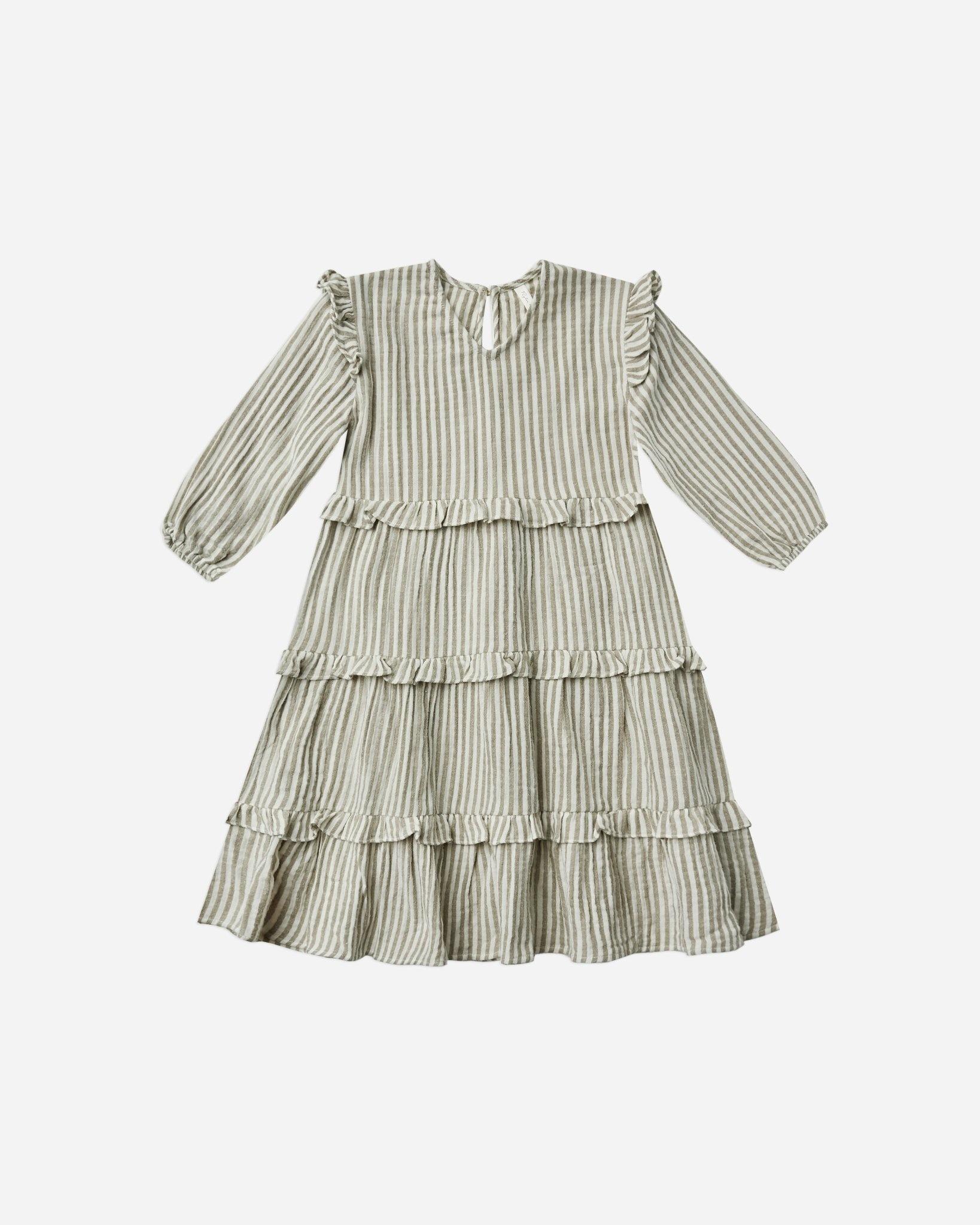 Rylee & Cru Olive Stripe Mabel Dress