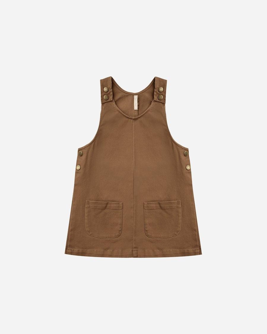 Rylee & Cru Rust Overall Dress