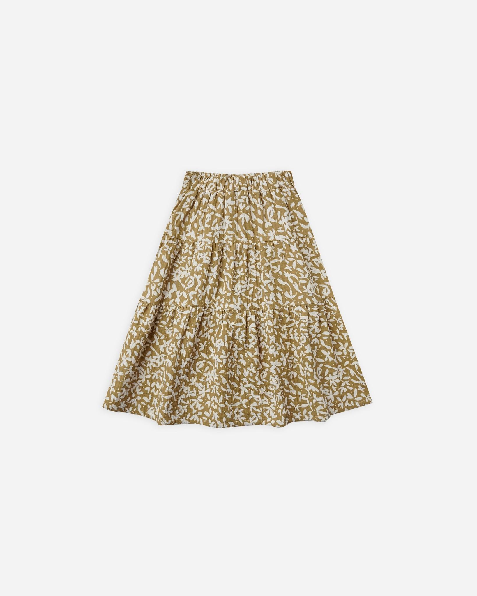 Rylee & Cru Ditsy Floral Midi Skirt