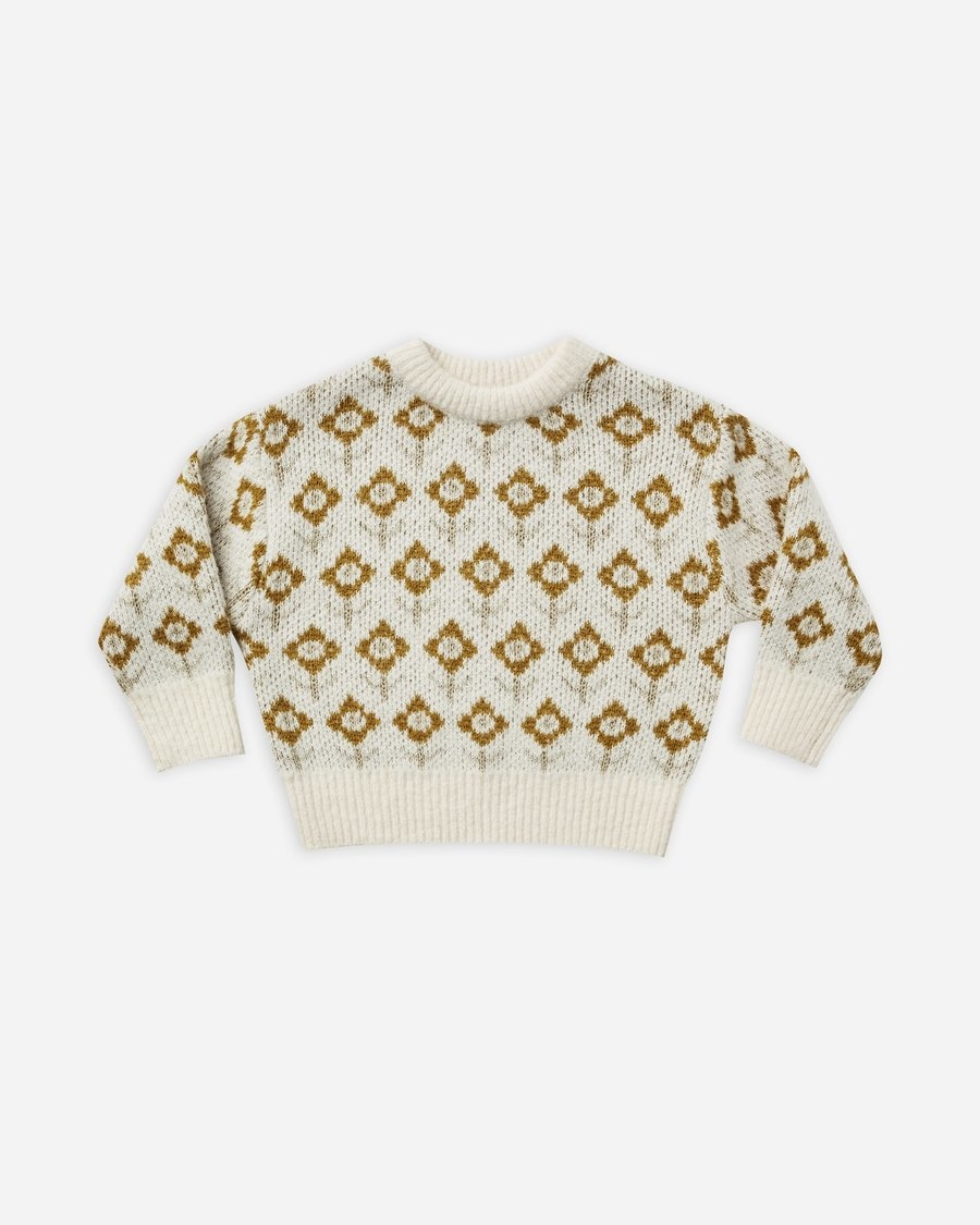 Rylee & Cru Vintage Floral Knit Pullover
