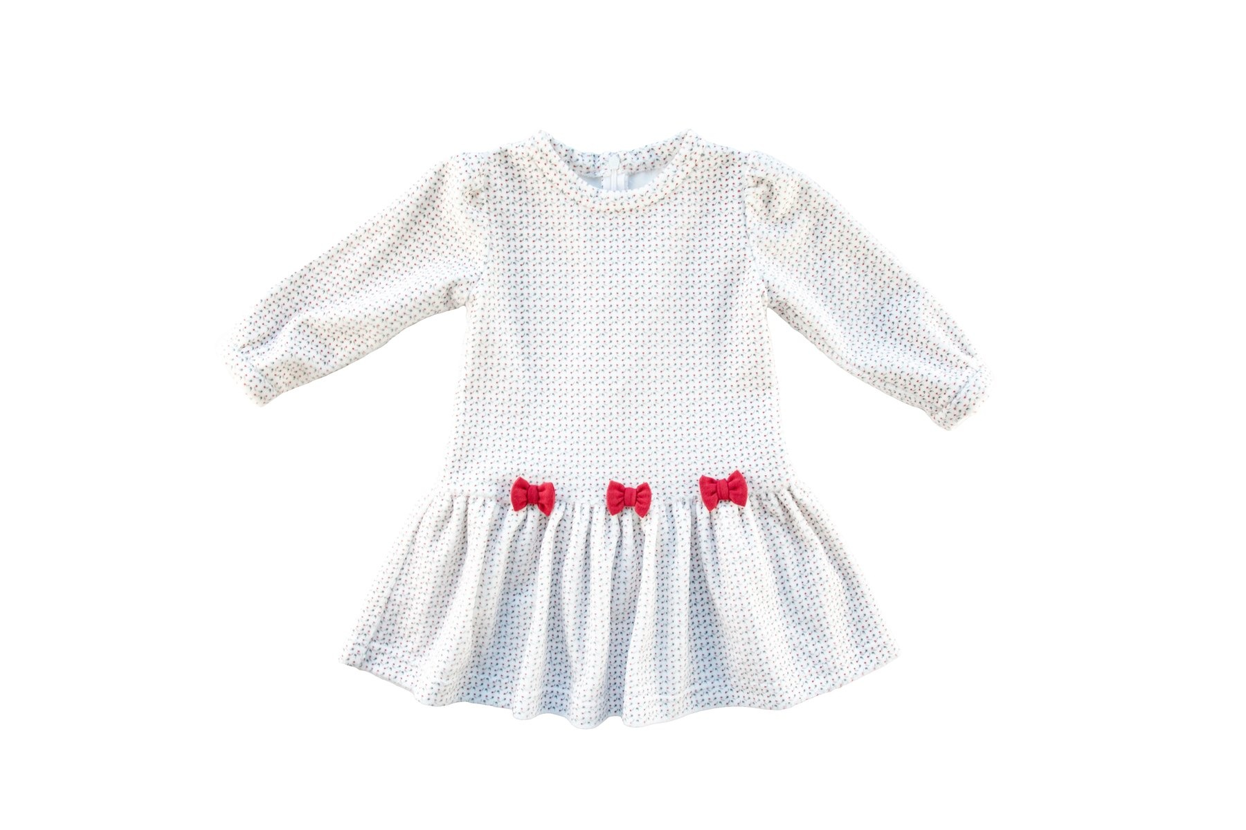 Florence Eiseman Holiday Bows Velour Dress