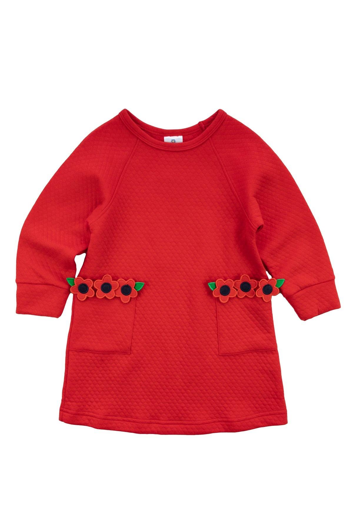 Florence Eiseman Red Jacquard Dress