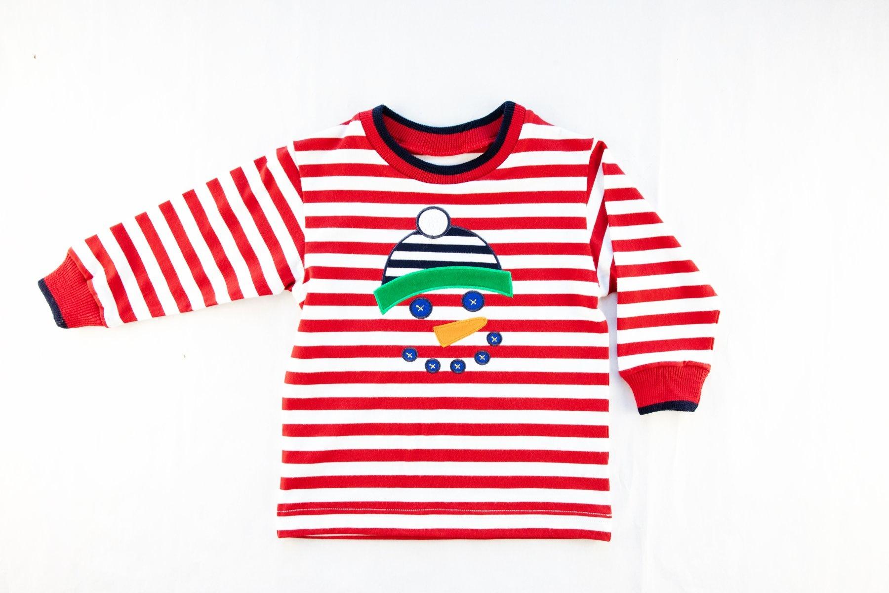 Florence Eiseman Snowman Stripe Shirt