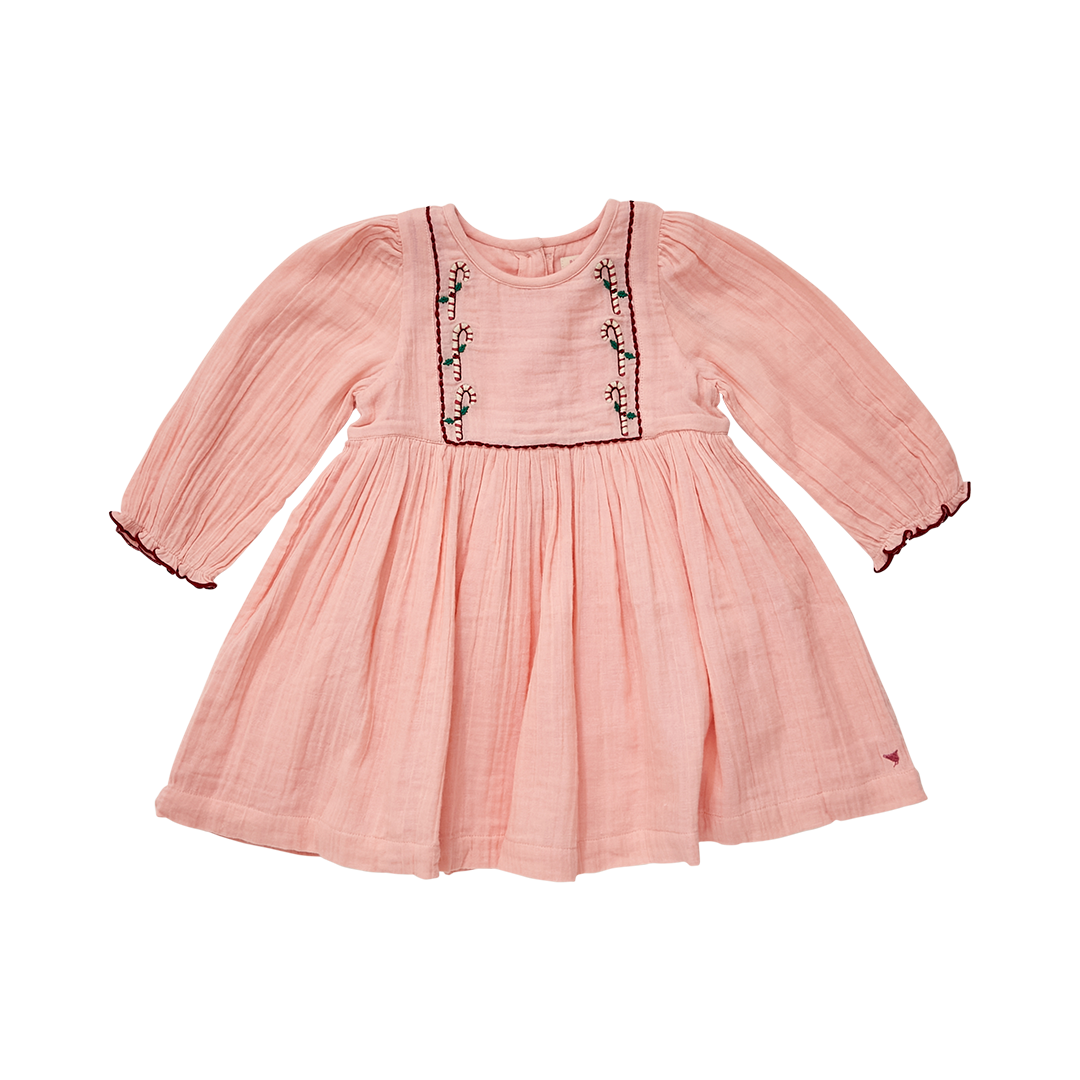 Pink Chicken Nicky Candy Cane Dress