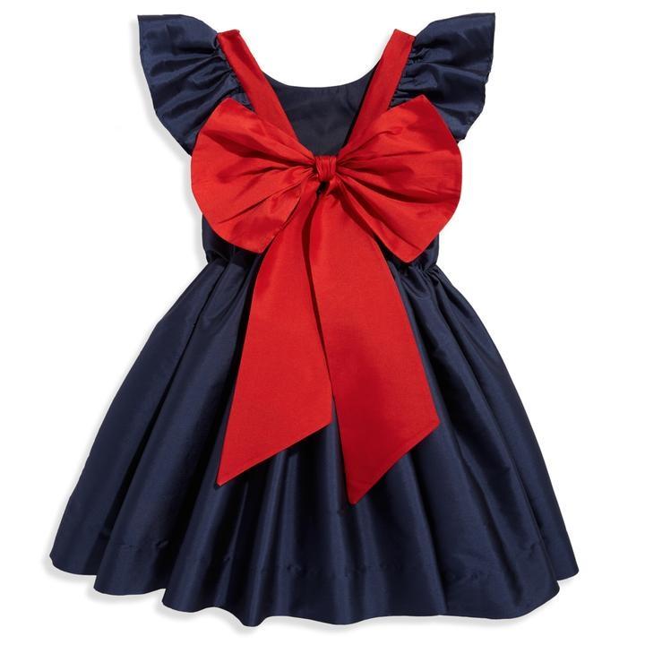 bella bliss Navy Taffeta Edenham Dress