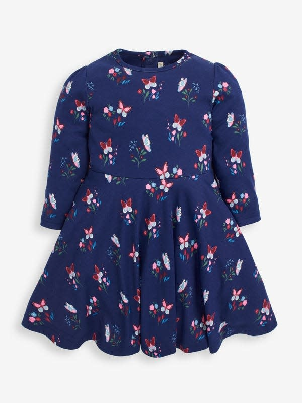 JoJo Maman Bebe Butterfly Print Skater Dress