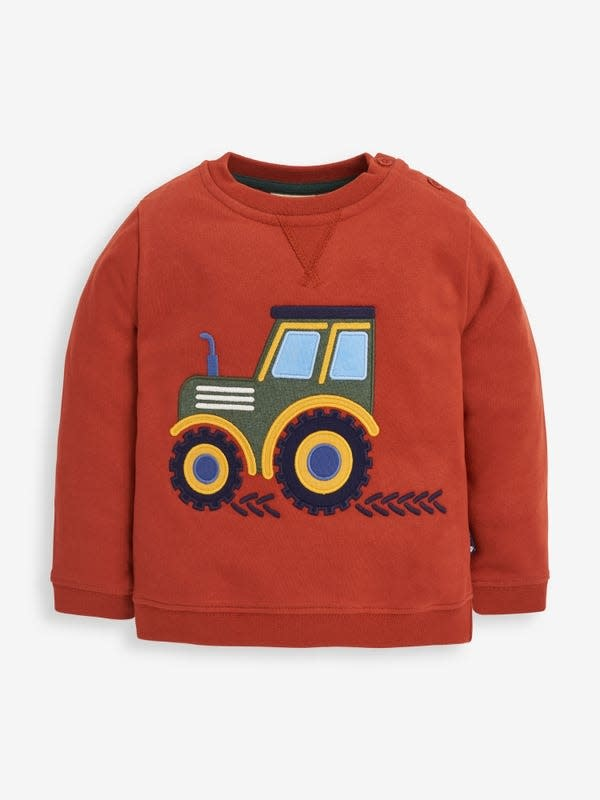 JoJo Maman Bebe Tractor Sweatshirt