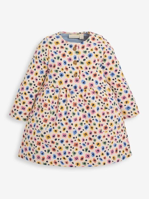 JoJo Maman Bebe Animal Print Sweatshirt Dress