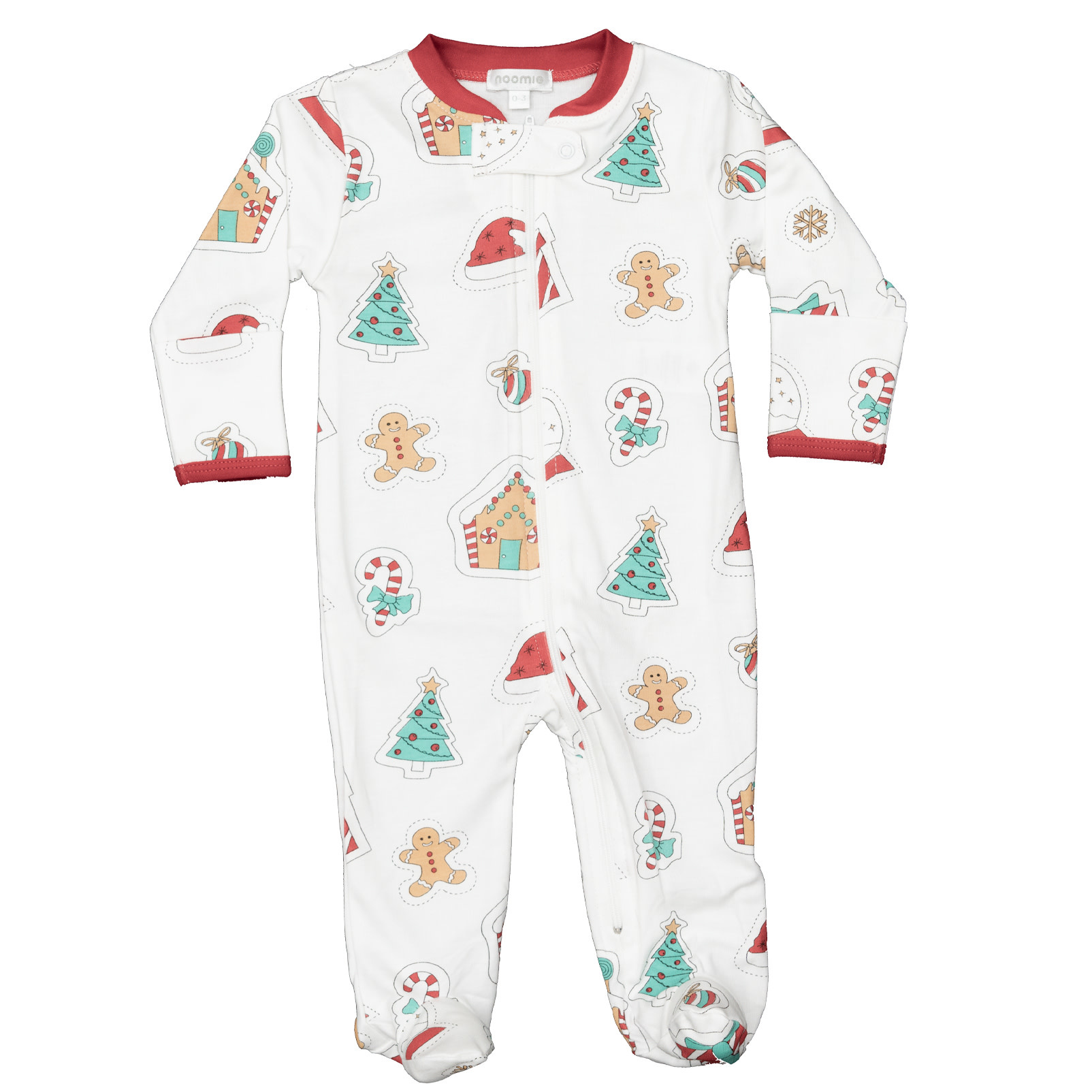 Noomie Holiday Patches Zipper Footie