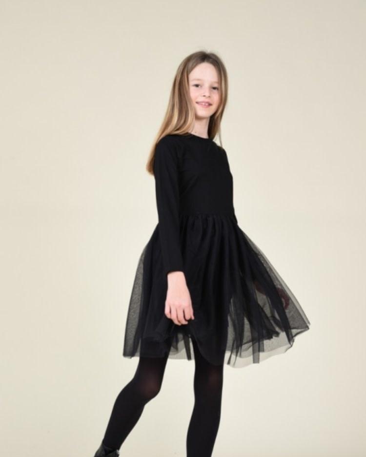 Mini Molly Jersey Tulle Dress
