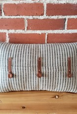 striped pillow leather