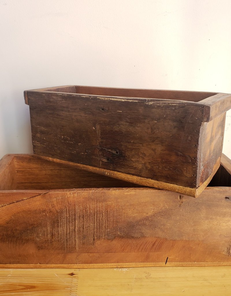 Found Wooden Container, Lg.