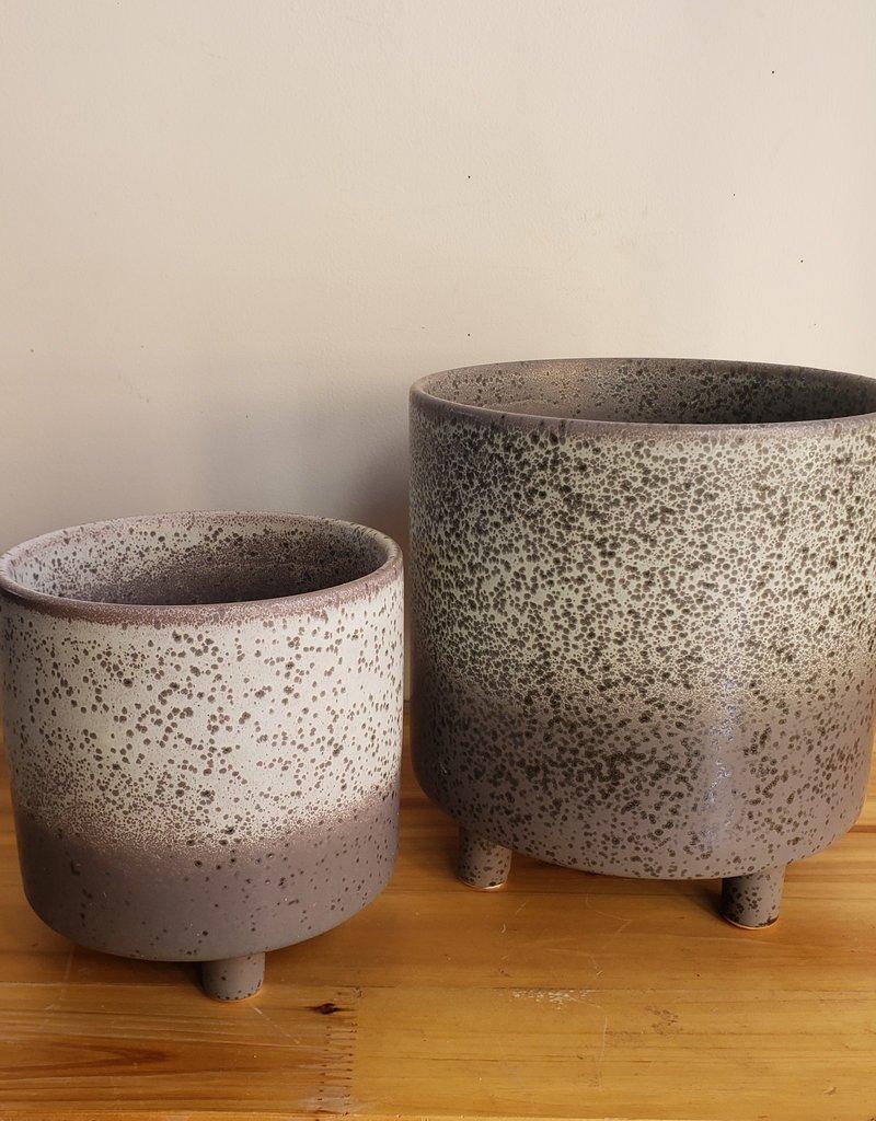 Large Black Lava Vase
