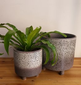 Small Black Lava Planter