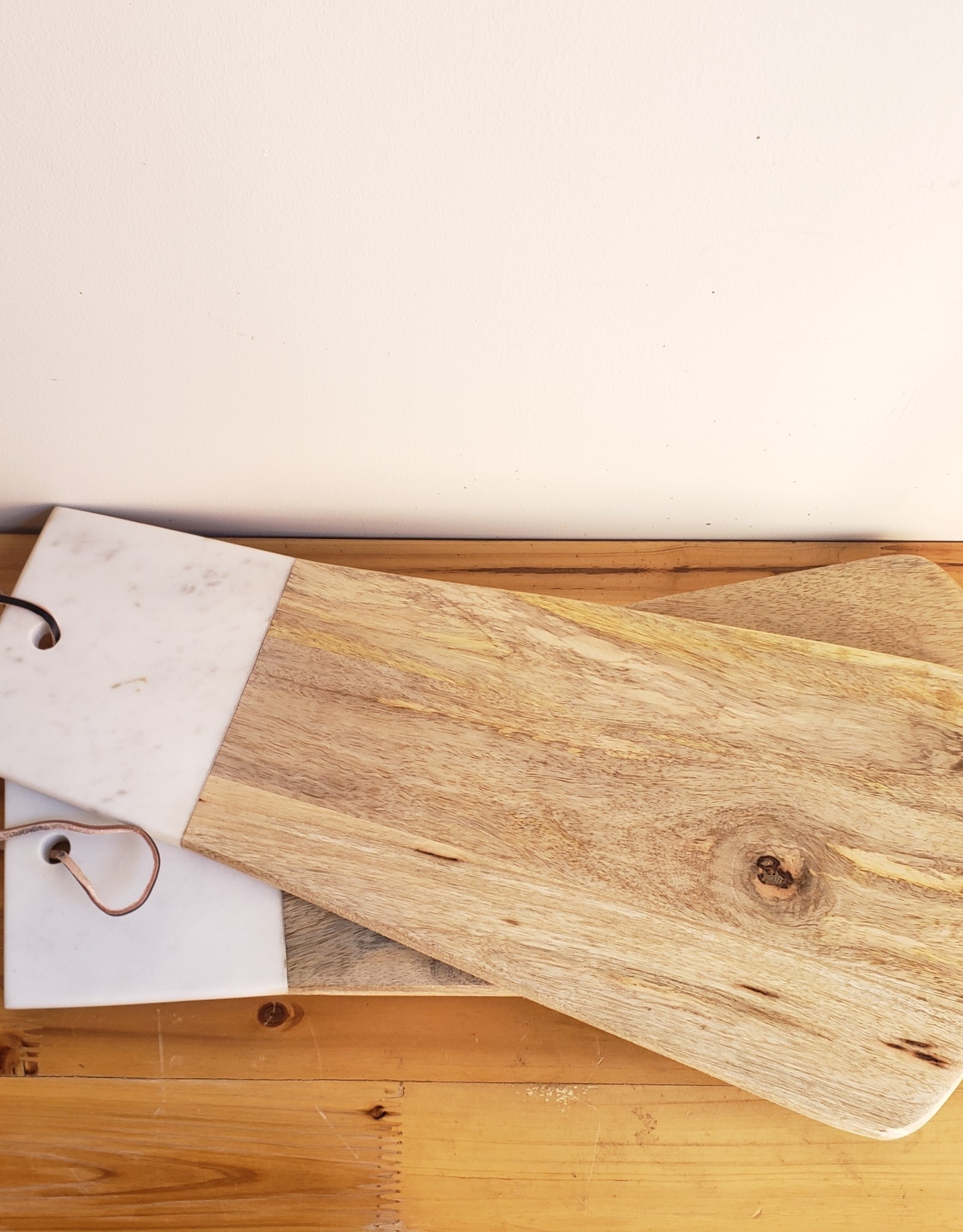 Wood and Marble Fan Cheeseboard