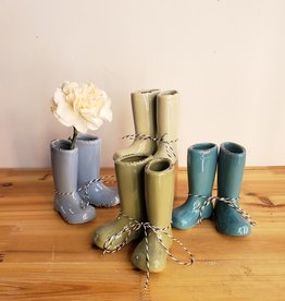Rainy Day Boot vase set