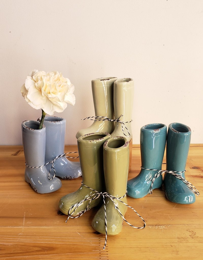 Rainy Day Boot vase set