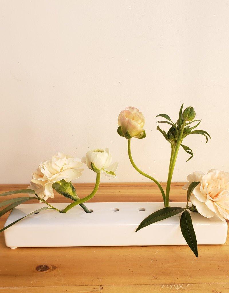 White Seven Hole Vase