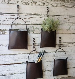 Hanging Iron Pocket Planter