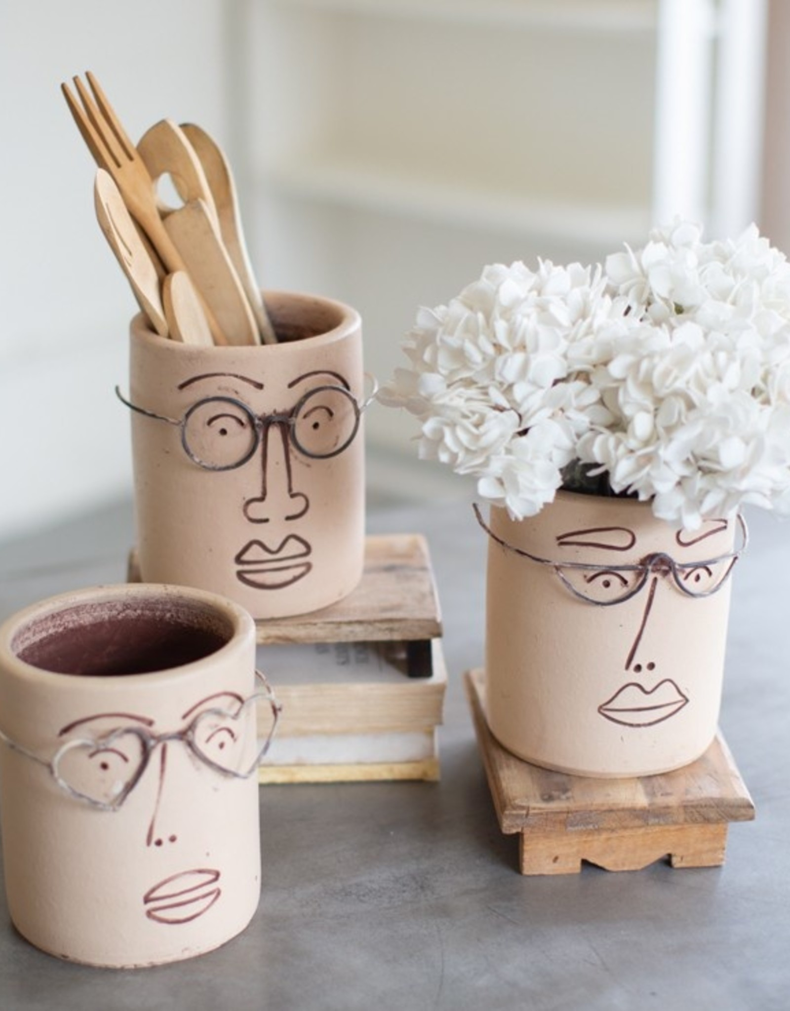 Clay People Planters