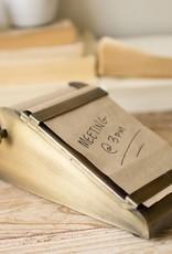 Notepaper with Desktop Brass Holder