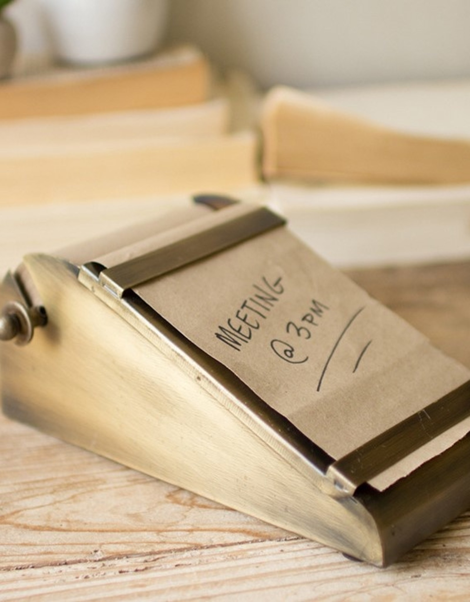 Notepaper with Desktop Brass Holder