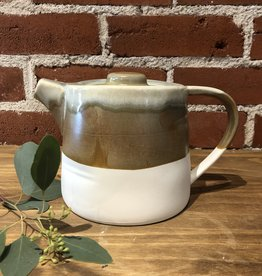 Copper Leaves Tea Pot