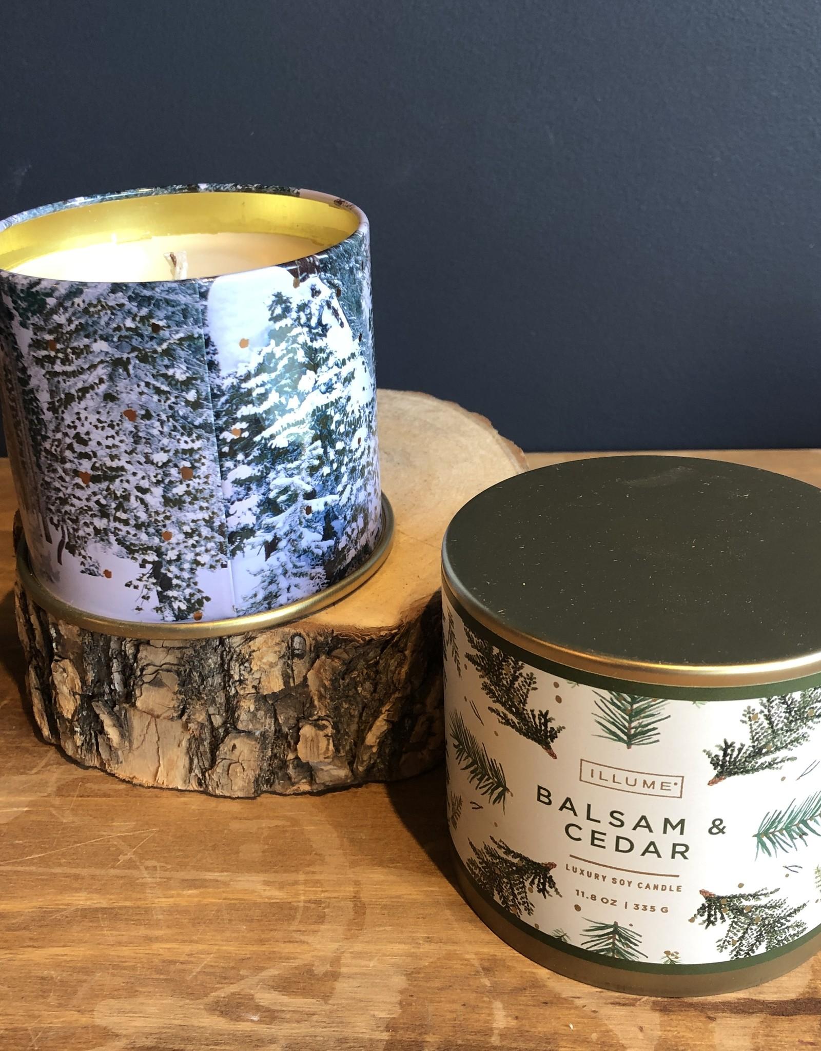 Balsam and cedar lg tin