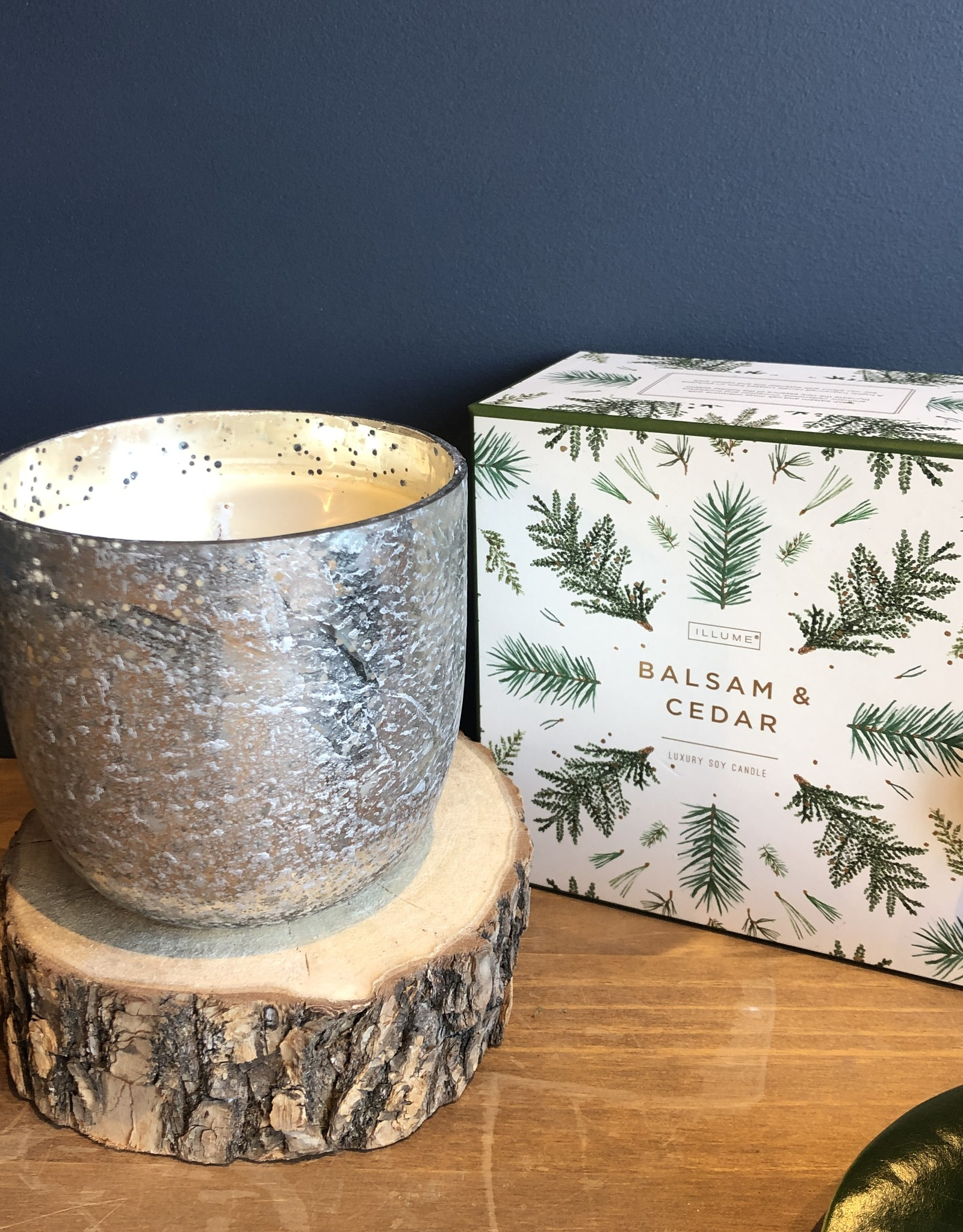 Balsam and Cedar Large Mercury Candle
